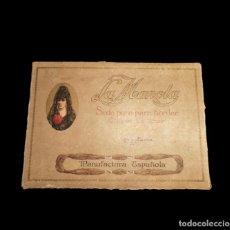 Antigüedades: ANTIGUA CAJA DE HILOS DE SEDA PURA PARA BORDAR - LA MANOLA - CONTIENE MÁS DE 100 MADEJAS. Lote 284800653