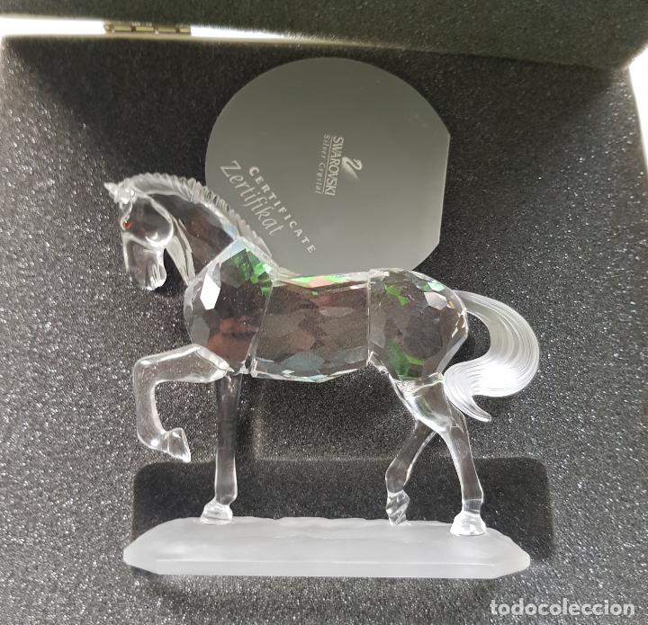 SWAROVSKI CABALLO ARABE ORIGINAL NUEVO CON CAJA RESTO DE TIENDA PVP 215€ (Antigüedades - Cristal y Vidrio - Swarovski)