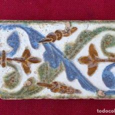 Antigüedades: AZULEJO ANTIGUO DE TOLEDO - SIGLO XVI - ARISTA - RENACIMIENTO.. Lote 285035078