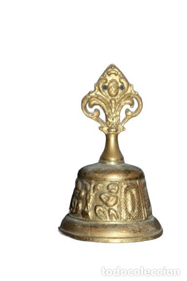 ANTIGUA CAMPANA DE BRONCE AZTECA SIGLOXX (Antigüedades - Hogar y Decoración - Campanas Antiguas)