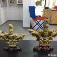 Antigüedades: LOTE PIEDRA JABON PERFUMEROS CHINOS. Lote 285040008