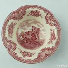 Antiquités: PLATO HONDO DE PORCELANA INGLESA JOHNSON BROS SERIE OLD BRITAIN CASTLES. Lote 285047658