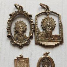 Antiguidades: LOTE DE MEDALLAS DEL PILAR ZARAGOZA ARAGON 1940 Y SIMILAR PLATA. Lote 285047793