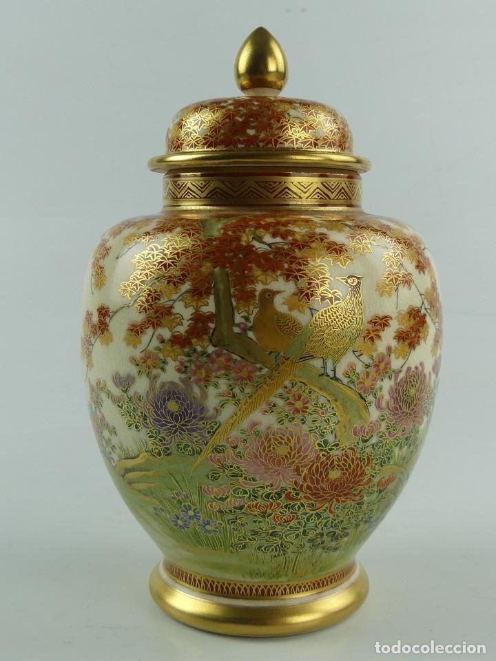 MAGNIFICO JARRON TIBOR PORCELANA - SATSUMA - PINTADO A MANO (Antigüedades - Porcelana y Cerámica - Japón)