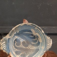 Oggetti Antichi: ESCUDILLA CERAMICA CATALANA SIGLO XVI/XVII REPARADA VER FOTOS. Lote 285060778