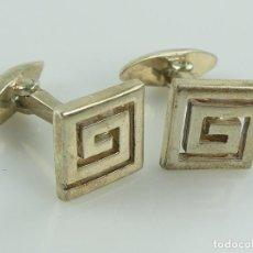 Antigüedades: MAGNIFICO JUEGO DE GEMELOS DE PLATA PESAN 9,35 GRAMOS. Lote 285073693