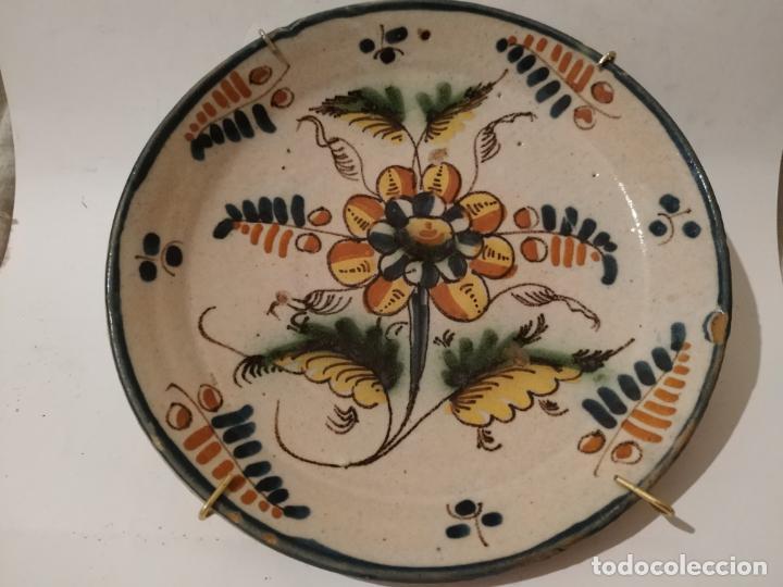 PLATO PUENTE ARZOBISPO (TOLEDO) S. XIX (Antigüedades - Porcelanas y Cerámicas - Puente del Arzobispo )
