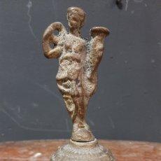 Antigüedades: ANTIGUA CAMPANA DEL SIGLO XIX CON MANGO FIGURA DE MUJER CON AGUAMANIL. Lote 285092743