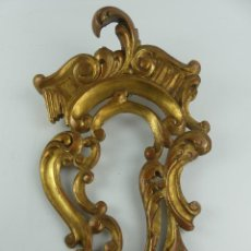 Antiquités: EXCELENTE MARCO PARA ESPEJO DE MADERA POLICROMADA. Lote 285094678