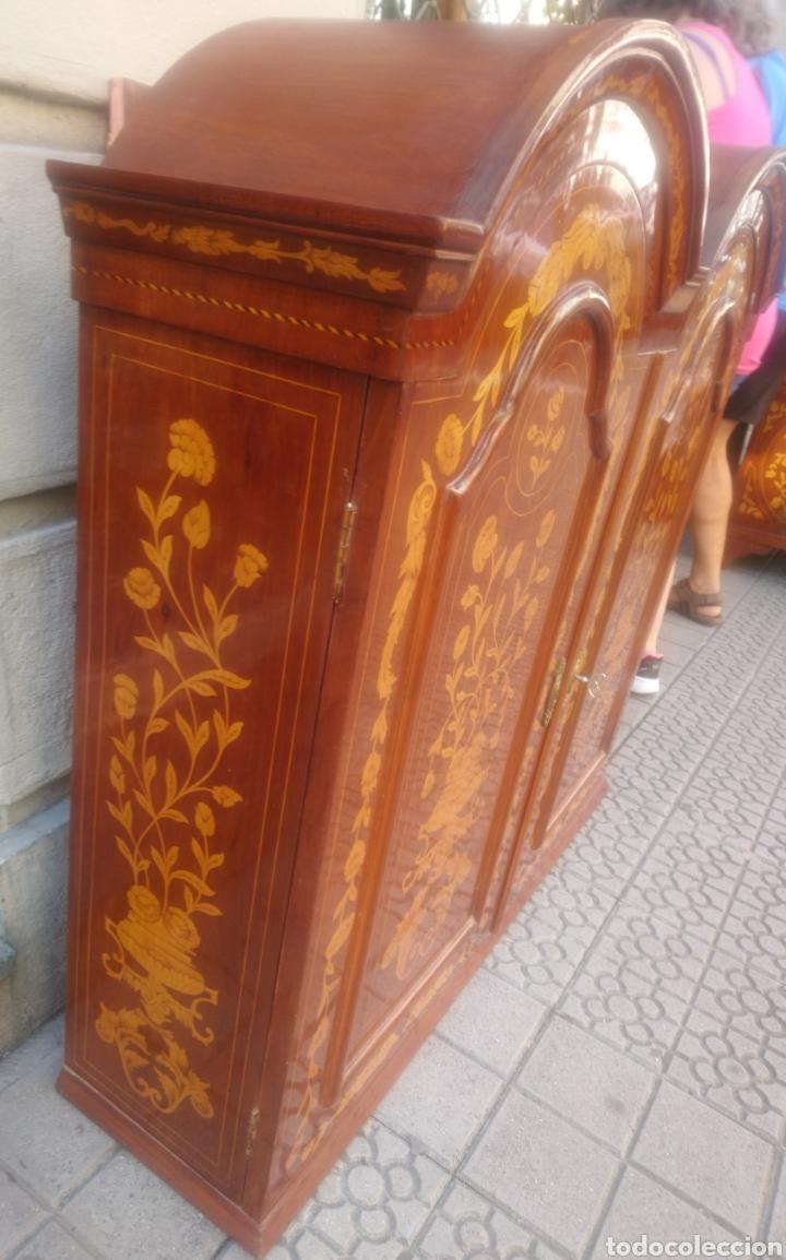Antigüedades: Bureau bookcase estilo Chippendale en madera lacada ,Medida 210X107X60cm - Foto 4 - 285129938