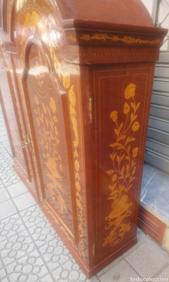 Antigüedades: Bureau bookcase estilo Chippendale en madera lacada ,Medida 210X107X60cm - Foto 5 - 285129938