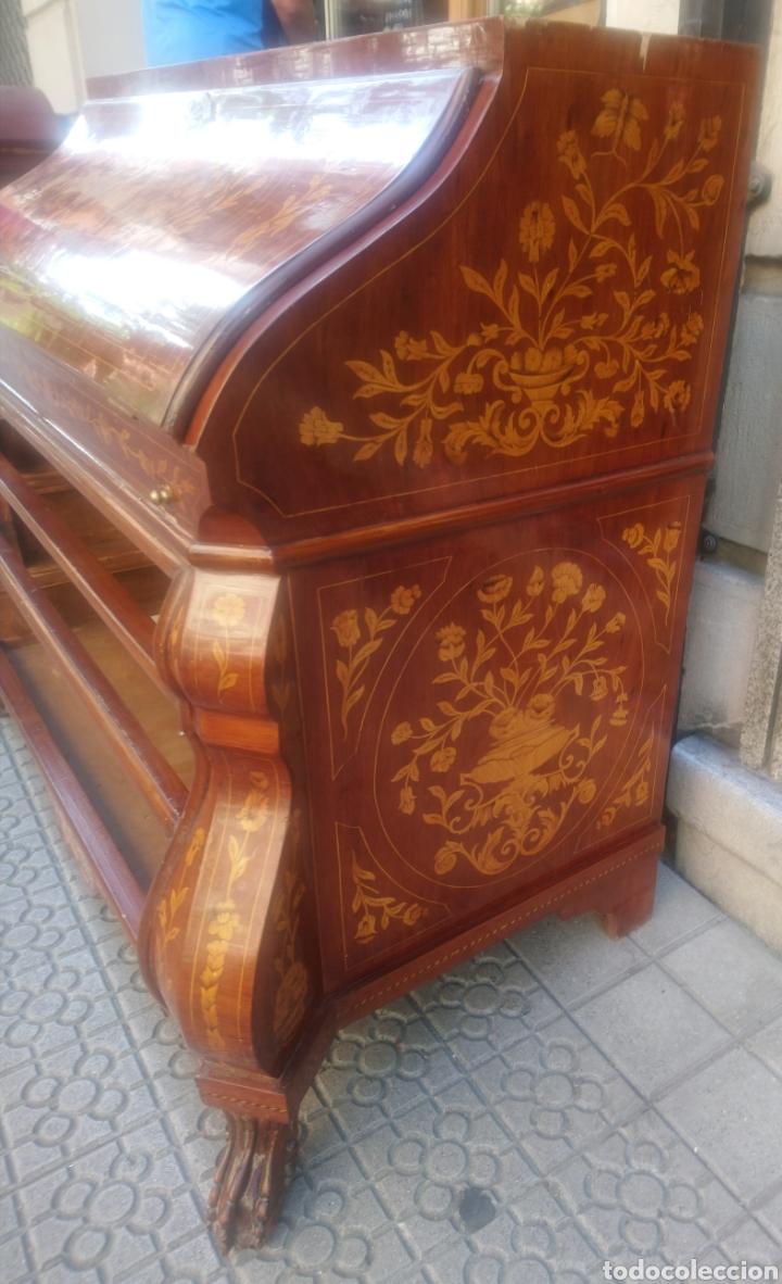 Antigüedades: Bureau bookcase estilo Chippendale en madera lacada ,Medida 210X107X60cm - Foto 7 - 285129938