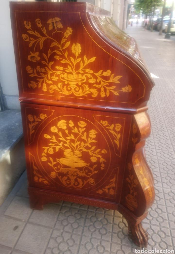 Antigüedades: Bureau bookcase estilo Chippendale en madera lacada ,Medida 210X107X60cm - Foto 8 - 285129938