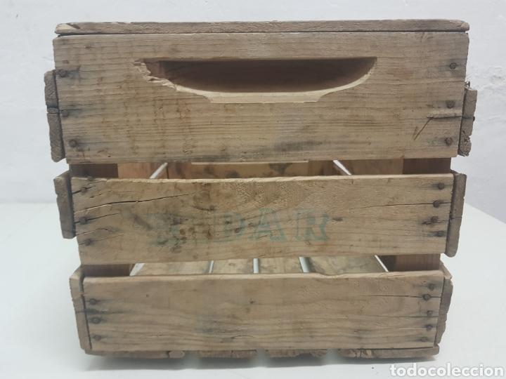 Antigüedades: Caja de frutas Ricardo Darocas ,Navarres,años 1950 - Foto 2 - 285131068
