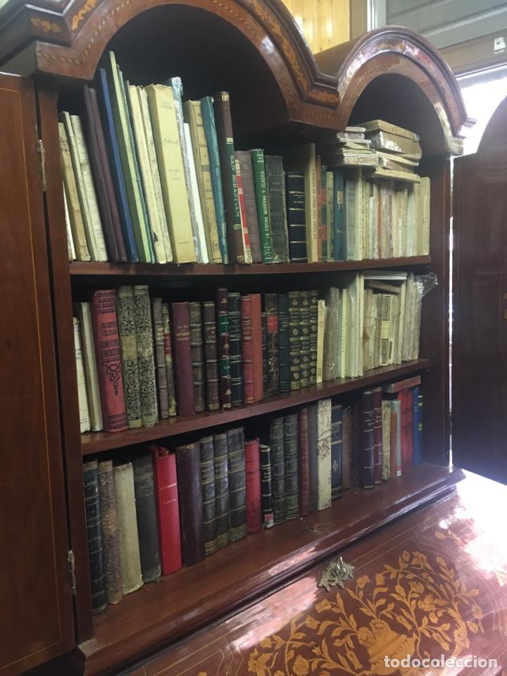 Antigüedades: Bureau bookcase estilo Chippendale en madera lacada ,Medida 210X107X60cm - Foto 9 - 285129938