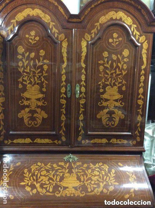 BUREAU BOOKCASE ESTILO CHIPPENDALE EN MADERA LACADA ,MEDIDA 210X107X60CM (Antigüedades - Muebles Antiguos - Aparadores Antiguos)