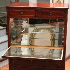 Antigüedades: APARADOR, MUEBLE BAR, 82 X 116 X 39, ROBLE, BARNIZADO COLOR CAOBA, BIEN CONSERVADO. Lote 285169633