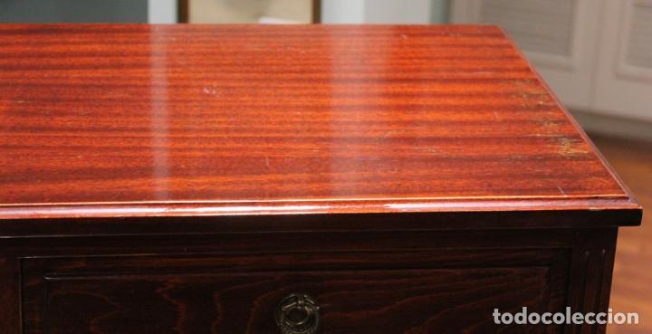 Antigüedades: Aparador, mueble bar, 82 x 116 x 39, roble, barnizado color caoba, bien conservado - Foto 2 - 285169633