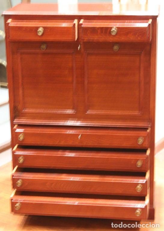 Antigüedades: Aparador, mueble bar, 82 x 116 x 39, roble, barnizado color caoba, bien conservado - Foto 3 - 285169633