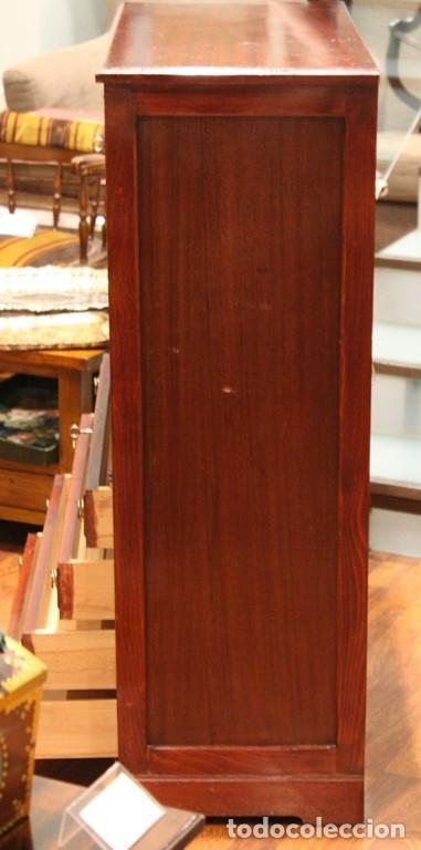 Antigüedades: Aparador, mueble bar, 82 x 116 x 39, roble, barnizado color caoba, bien conservado - Foto 4 - 285169633