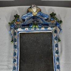 Antiquités: MAGNIFICO Y ANTIGUO ESPEJO EN CERAMICA DE FEITANAR SIGUIENDO MODELOS ALCOREÑOS DE SIGLO XVIII. Lote 285202978