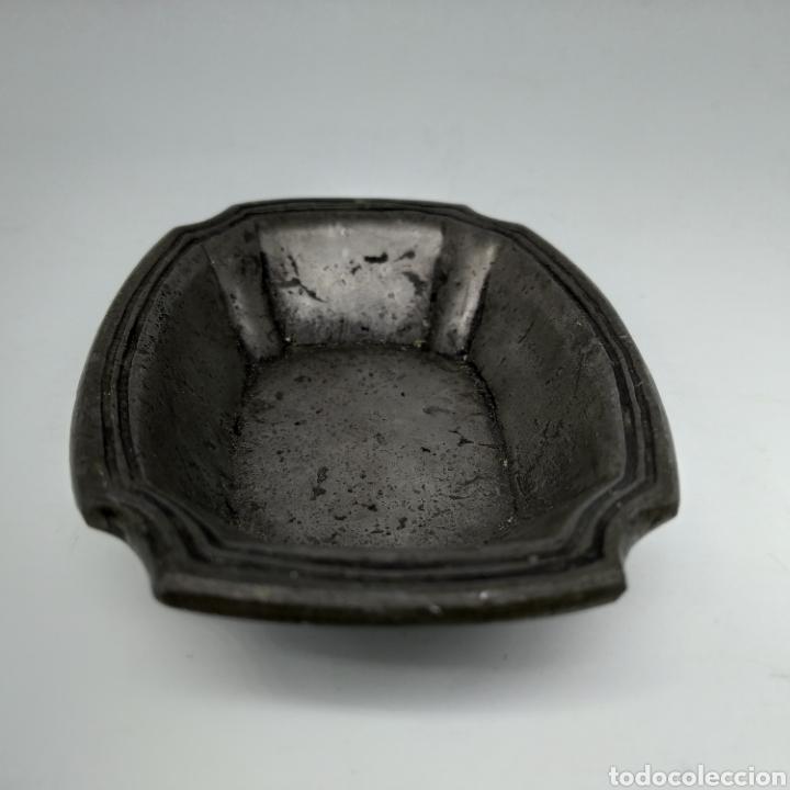 Antigüedades: Antiguo cenicero de Estaños de Pedraza, Segovia, artículo de fabricación artesanal - Foto 4 - 285293013