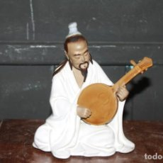 Antiquités: BONITA FIGURA DE MUSICO DE PORCELANA MARCA SHIWAN. Lote 285371658