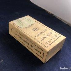 Antigüedades: PÓLVORAS DE CAZA NEGRAS FÁBRICAS EN LUGONES Y CAYES. Lote 285380203
