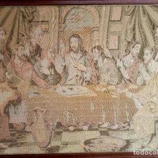 Antigüedades: ANTIGUO TAPIZ DE LA ULTIMA CENA. Lote 285411313