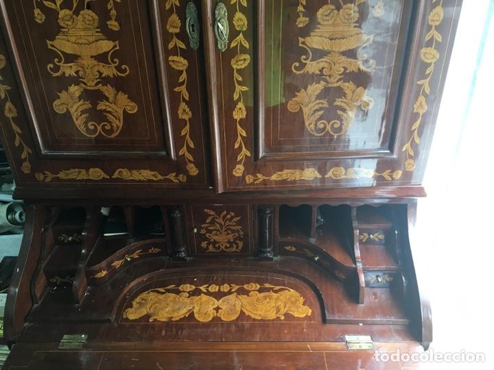 Antigüedades: Bureau bookcase estilo Chippendale en madera lacada ,Medida 210X107X60cm - Foto 14 - 285129938