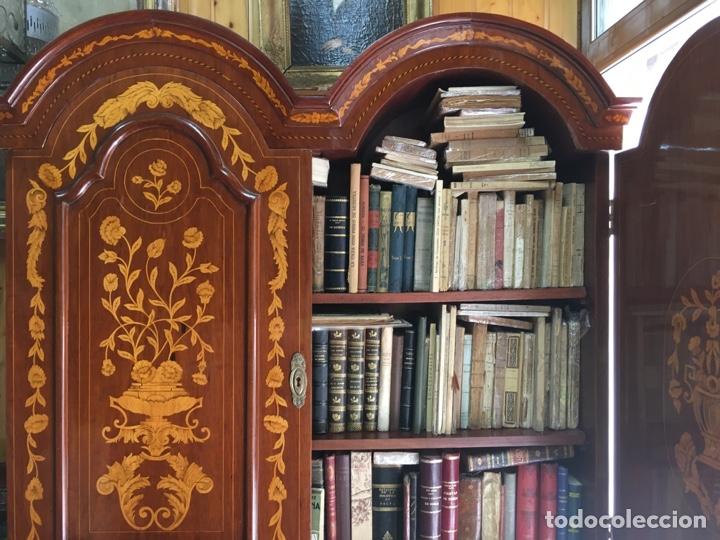 Antigüedades: Bureau bookcase estilo Chippendale en madera lacada ,Medida 210X107X60cm - Foto 15 - 285129938