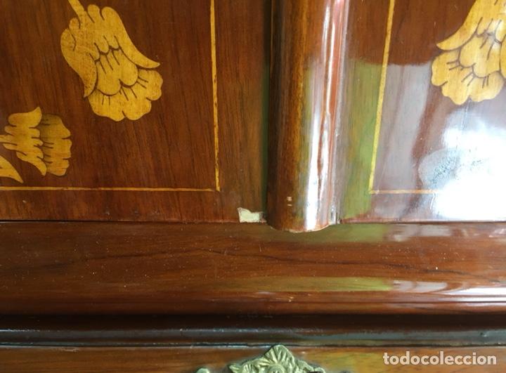 Antigüedades: Bureau bookcase estilo Chippendale en madera lacada ,Medida 210X107X60cm - Foto 16 - 285129938