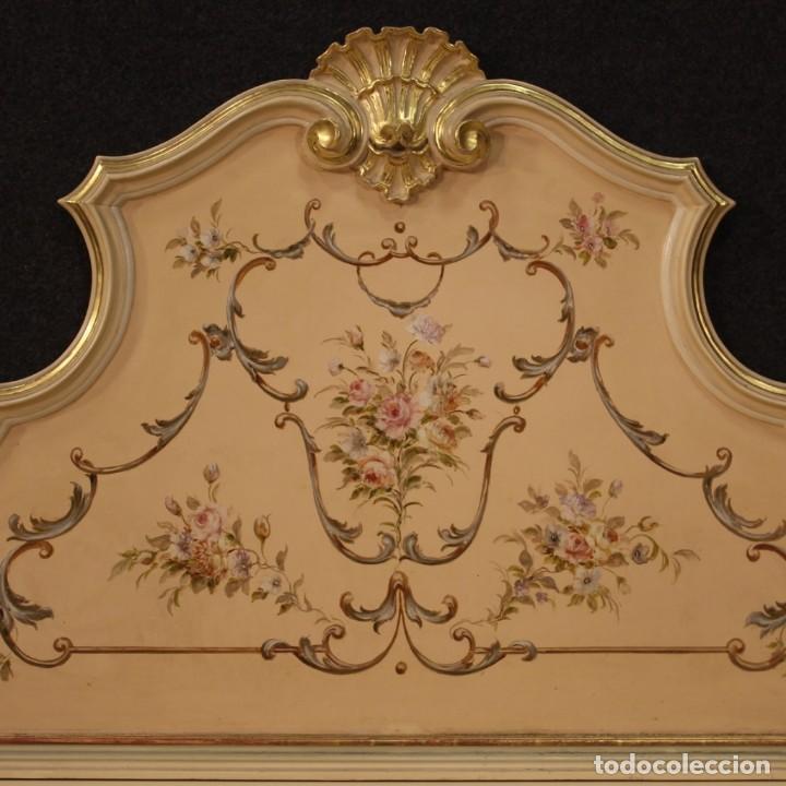 Antigüedades: Cofre veneciana lacada, pintada y dorada - Foto 4 - 285417128