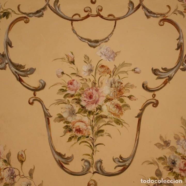 Antigüedades: Cofre veneciana lacada, pintada y dorada - Foto 5 - 285417128