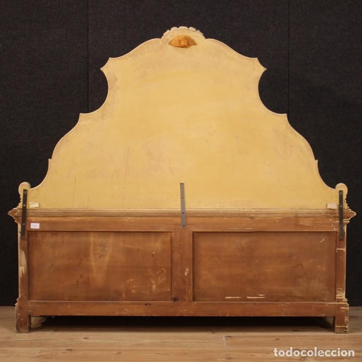 Antigüedades: Cofre veneciana lacada, pintada y dorada - Foto 9 - 285417128