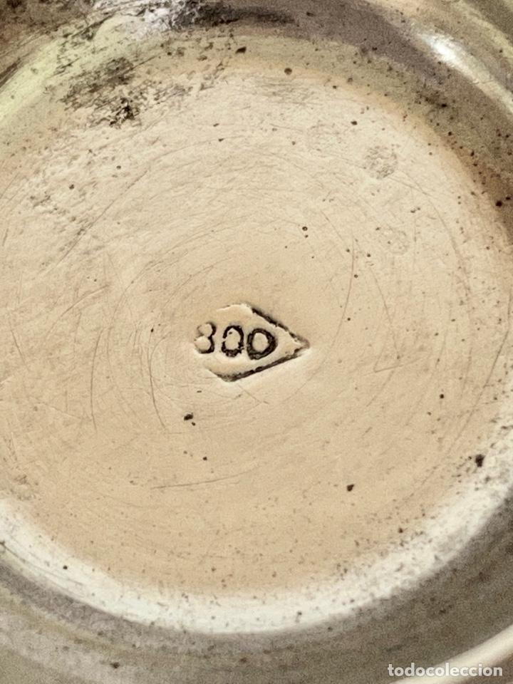 Antigüedades: DOS RECIPIENTES PARA SAL Y PIMIENTA-EN PLATA DE LEY 800-VINTAGE-REPUJADOS - Foto 4 - 285417848