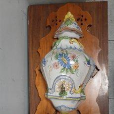 Antigüedades: AGUAMANIL CERÁMICA MURCIANA PINTADA A MANIO LARIO. Lote 285425173