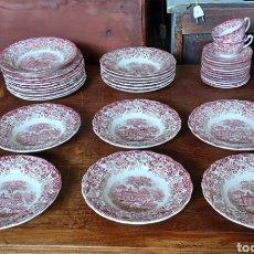 Antigüedades: LOTE DE 6 PLATOS HONDOS PICKMAN ROSA LA CARTUJA. Lote 285429223
