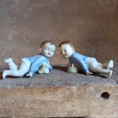 Antiquités: PAREJA DE BEBÉS DE PIANO * BISCUIT ALEMAN * FIGURAS NUMERADAS * APROX 28 CM. Lote 285548378