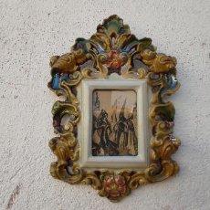 Antigüedades: MARCO TERRACOTA VIDRIADA. Lote 285592728