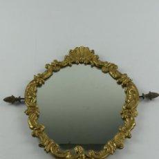 Antiquités: PRECIOSO ESPEJO MARCO DE BRONCE OBJETO DE DECORACION O USO. Lote 285597618