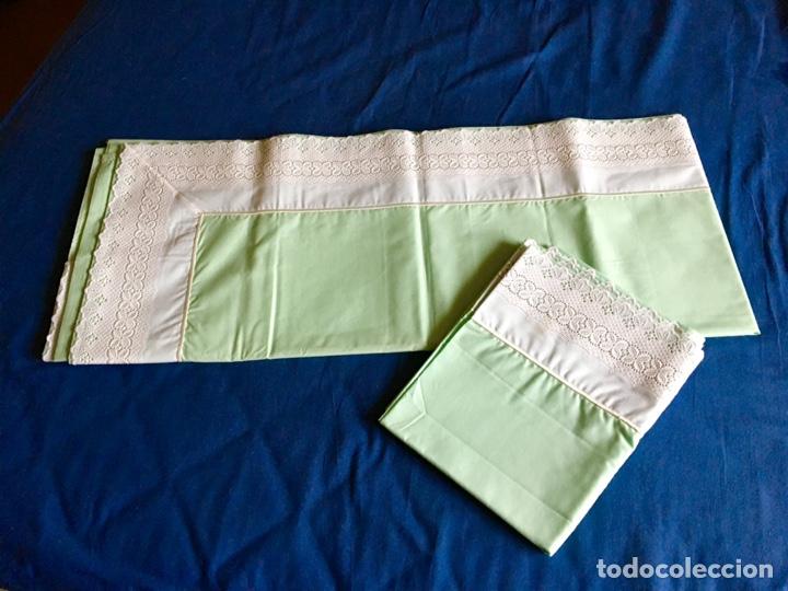 Antigüedades: Juego de sabanas bordadas con fundas de almohada - Foto 5 - 285612423