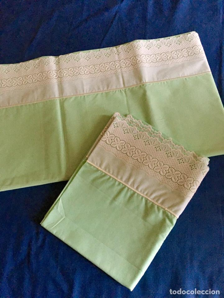 Antigüedades: Juego de sabanas bordadas con fundas de almohada - Foto 6 - 285612423