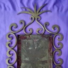 Antigüedades: ANTIGUA CORNUCOPIA DORADA DE HIERRO, METAL. PRECIOSA 29CM X 16. MEDIDA CENTRAL 10,2CM X 15CM. Lote 285617623
