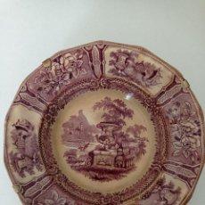 Antiquités: SARGADELOS ANTIGUO PLATO HONDO SIGLO XIX SERIE GÓNDOLA EN PERFECTO ESTADO. Lote 285659513
