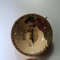 Antiquités: DOS ANTIGUOS PLATOS DE CERAMICA DE MALLORCA. Lote 285743293