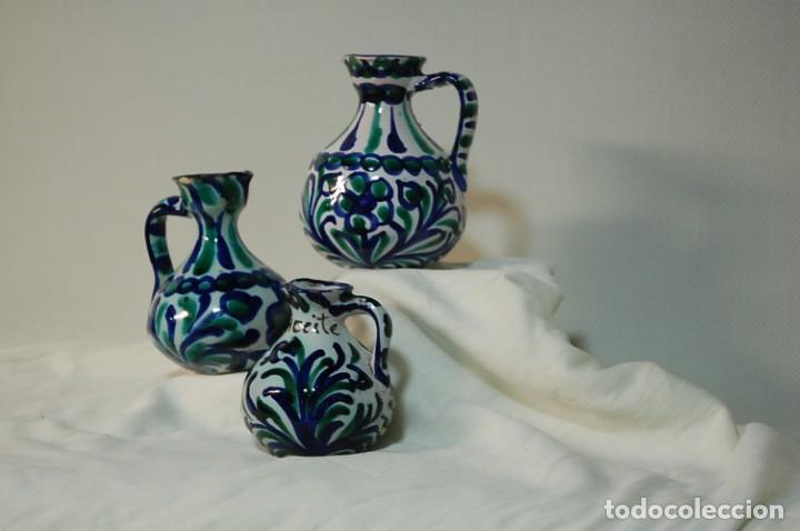 Antigüedades: Tres piezas de ceramica Granadina de Fajalauza - Foto 2 - 285744658