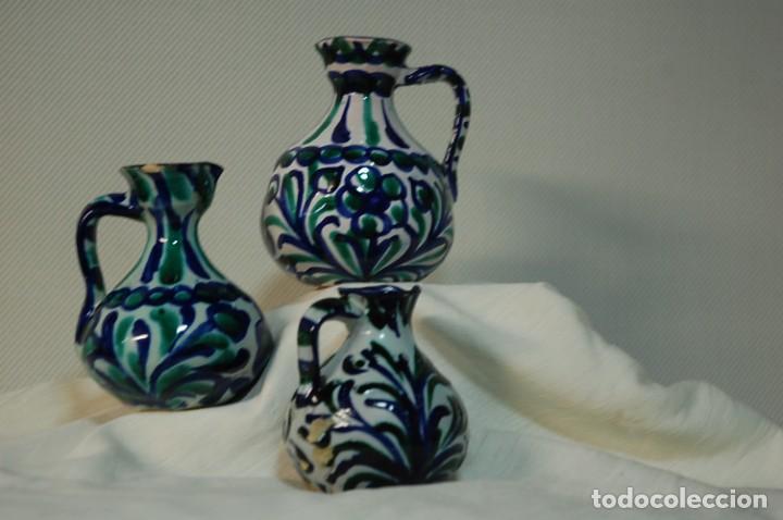 Antigüedades: Tres piezas de ceramica Granadina de Fajalauza - Foto 3 - 285744658