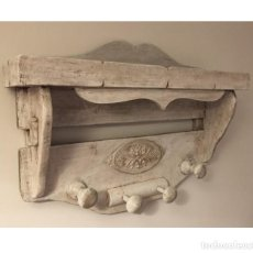 Antigüedades: PERCHERO RÚSTICO EXCLUSIVO. Lote 285768948
