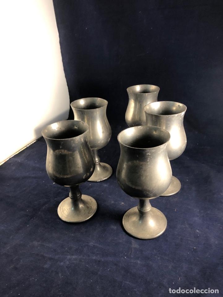 Antigüedades: Copas de metal - Foto 2 - 285969088